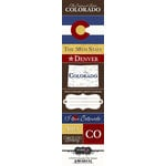 Scrapbook Customs - United States Collection - Colorado - Cardstock Stickers - Chic