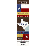 Scrapbook Customs - United States Collection - Texas - Cardstock Stickers - Chic