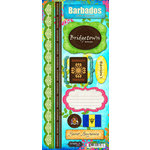 Scrapbook Customs - World Collection - Barbados - Cardstock Stickers - Paradise