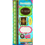 Scrapbook Customs - World Collection - Bermuda - Cardstock Stickers - Paradise