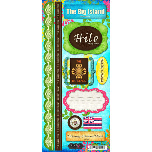 Scrapbook Customs - World Collection - USA - Hawaii - Cardstock Stickers - The Big Island - Paradise