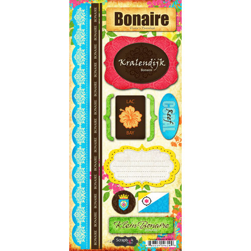 Scrapbook Customs - World Collection - Bonaire - Cardstock Stickers - Paradise