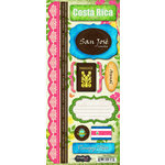 Scrapbook Customs - World Collection - Costa Rica - Cardstock Stickers - Paradise