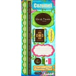 Scrapbook Customs - World Collection - Mexico - Cardstock Stickers - Cozumel - Paradise