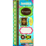 Scrapbook Customs - World Collection - Jamaica - Cardstock Stickers - Paradise