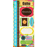 Scrapbook Customs - World Collection - USA - Hawaii - Cardstock Stickers - Oahu - Paradise