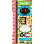 Scrapbook Customs - World Collection - Puerto Rico - Cardstock Stickers - Paradise