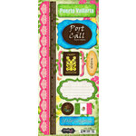 Scrapbook Customs - World Collection - Mexico - Cardstock Stickers - Puerto Vallarta - Paradise