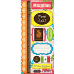 Scrapbook Customs - World Collection - Mexico - Cardstock Stickers - Mazatlan - Paradise