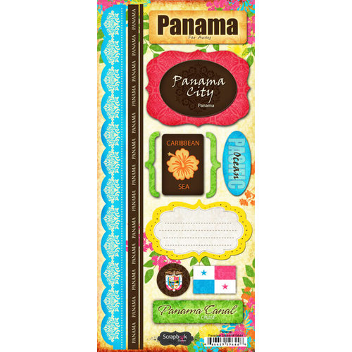 Scrapbook Customs - World Collection - Panama - Cardstock Stickers - Paradise