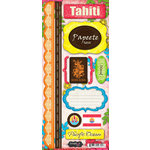 Scrapbook Customs - World Collection - Tahiti - Cardstock Stickers - Paradise