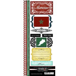 Scrapbook Customs - World Collection - Morocco - Cardstock Stickers - Explore