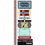 Scrapbook Customs - World Collection - Norway - Cardstock Stickers - Explore