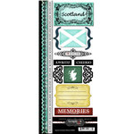 Scrapbook Customs - World Collection - Scotland - Cardstock Stickers - Explore