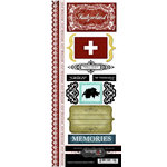 Scrapbook Customs - World Collection - Switzerland - Cardstock Stickers - Explore