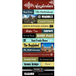 Scrapbook Customs - World Collection - Netherlands - Cardstock Stickers - Explore - Amsterdam