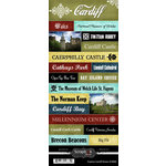 Scrapbook Customs - World Collection - Wales - Cardstock Stickers - Explore - Cardiff
