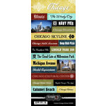Scrapbook Customs - World Collection - USA - Cardstock Stickers - Explore - Chicago