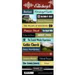 Scrapbook Customs - World Collection - Scotland - Cardstock Stickers - Explore - Edinburgh