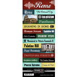Scrapbook Customs - World Collection - Italy - Cardstock Stickers - Explore - Rome