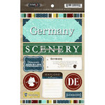 Scrapbook Customs - World Collection - Germany - Cardstock Stickers - Exploring