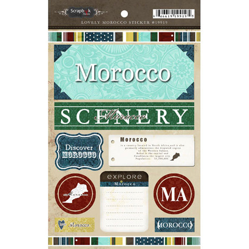 Scrapbook Customs - World Collection - Morocco - Cardstock Stickers - Exploring