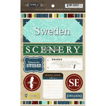 Scrapbook Customs - World Collection - Sweden - Cardstock Stickers - Exploring