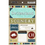 Scrapbook Customs - World Collection - Switzerland - Cardstock Stickers - Exploring