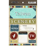 Scrapbook Customs - World Collection - Taiwan - Cardstock Stickers - Exploring