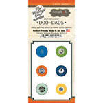 Scrapbook Customs - Vintage Label Collection - Vintage Doo Dads - Self Adhesive Metal Badges - Indiana