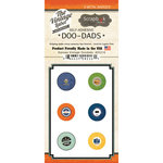 Scrapbook Customs - Vintage Label Collection - Vintage Doo Dads - Self Adhesive Metal Badges - Kansas