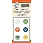 Scrapbook Customs - Vintage Label Collection - Vintage Doo Dads - Self Adhesive Metal Badges - Massachusetts
