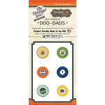 Scrapbook Customs - Vintage Label Collection - Vintage Doo Dads - Self Adhesive Metal Badges - New Jersey