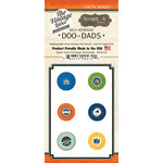 Scrapbook Customs - Vintage Label Collection - Vintage Doo Dads - Self Adhesive Metal Badges - New York