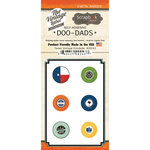 Scrapbook Customs - Vintage Label Collection - Vintage Doo Dads - Self Adhesive Metal Badges - Texas