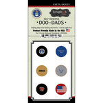 Scrapbook Customs - Military Collection - Doo Dads - Self Adhesive Metal Badges - Air Force Values