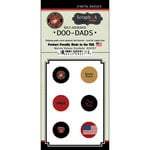 Scrapbook Customs - Military Collection - Doo Dads - Self Adhesive Metal Badges - Marine Values