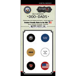 Scrapbook Customs - Military Collection - Doo Dads - Self Adhesive Metal Badges - Navy Values