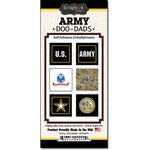Scrapbook Customs - United States Military Collection - Self Adhesive Metal Badges - Army