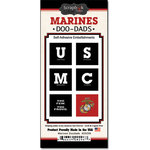 Scrapbook Customs - United States Military Collection - Self Adhesive Metal Badges - Marines