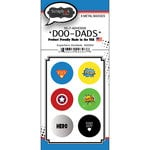 Scrapbook Customs - Superhero Collection - Doo Dads - Self Adhesive Metal Badges