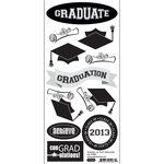 Scrapbook Customs - Graduation Collection - Cardstock Stickers - Con-GRAD-ulations