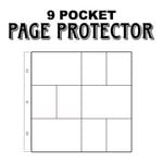 Scrapbook Customs - 12 x 12 Page Protectors - Three 6 x 4 Six 3 x 4 Inch Photo Sleeves - 12 Pack