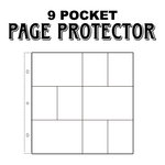 Scrapbook Customs - Page Protectors - Three 6 x 4 Six 3 x 4 Inch Photo Sleeves - Fits 12 x 12 Three Ring Albums