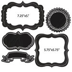 Scrapbook Customs - Die Cut Chalkboard Frames - Two