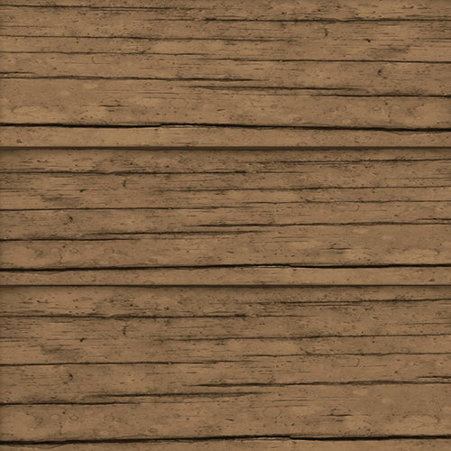 Scrapbook Customs - United States Collection - 12 x 12 Paper - Dark Brown Wood