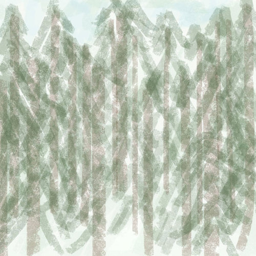 Scrapbook Customs - United States Collection - Alaska - 12 x 12 Paper - Trees
