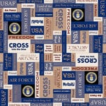 Scrapbook Customs - Military Collection - 12 x 12 Paper - Air Force Squares