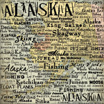 Scrapbook Customs - United States Collection - Alaska - 12 x 12 Paper - Map