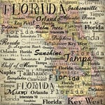 Scrapbook Customs - United States Collection - Florida - 12 x 12 Paper - Map